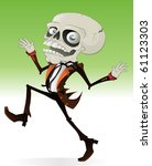 scary halloween character with... | Shutterstock .eps vector #61123303