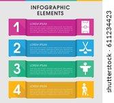 modern field infographic... | Shutterstock .eps vector #611234423