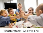 education  children  technology ... | Shutterstock . vector #611241173