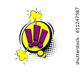 lettering exclamation point.... | Shutterstock .eps vector #611247587