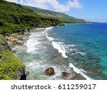 scenic coastal views of rota  ...   Shutterstock . vector #611259017