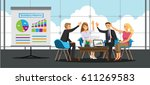 business people teamwork in... | Shutterstock .eps vector #611269583