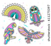 set of fashion birds patches....