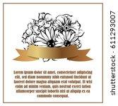 vintage delicate invitation... | Shutterstock .eps vector #611293007