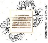vintage delicate invitation... | Shutterstock .eps vector #611293637
