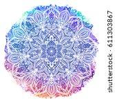 flower mandala. vintage tattoo... | Shutterstock .eps vector #611303867
