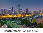 bangkok city at twilight | Shutterstock . vector #611316767