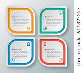 vector abstract 3d paper... | Shutterstock .eps vector #611322257