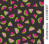 seamless vector pattern with... | Shutterstock .eps vector #611338307
