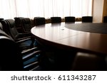 conference table and chairs in... | Shutterstock . vector #611343287