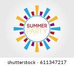 summer party. label design... | Shutterstock .eps vector #611347217
