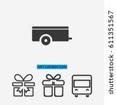car trailer  vector icon 10 eps