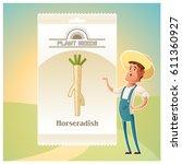 pack of horseradish seeds icon | Shutterstock .eps vector #611360927