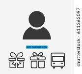 business man icon. vector eps | Shutterstock .eps vector #611362097