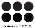 vector grunge circles... | Shutterstock .eps vector #611373923