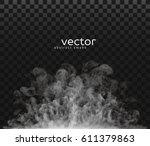 vector illustration of smoke.... | Shutterstock .eps vector #611379863