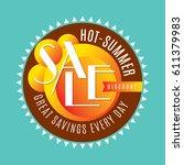summer sale banner design... | Shutterstock .eps vector #611379983