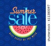 summer sale banner design... | Shutterstock .eps vector #611380097