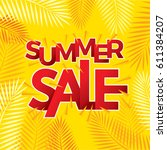 summer sale banner design... | Shutterstock .eps vector #611384207