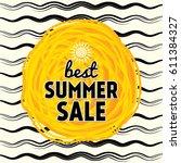 summer sale banner design... | Shutterstock .eps vector #611384327