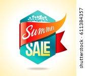 summer sale banner design... | Shutterstock .eps vector #611384357