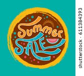 summer sale banner design... | Shutterstock .eps vector #611384393