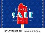 summer sale banner design... | Shutterstock .eps vector #611384717