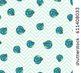 seashells hand drawn seamless... | Shutterstock .eps vector #611408033