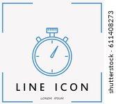 line icon  stopwatch | Shutterstock .eps vector #611408273