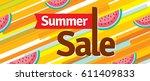 summer sale banner design... | Shutterstock .eps vector #611409833