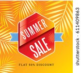 summer sale banner design... | Shutterstock .eps vector #611409863