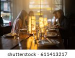 selective focus lighting with... | Shutterstock . vector #611413217