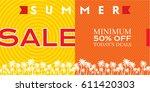 summer sale banner design... | Shutterstock .eps vector #611420303