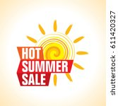 summer sale banner design... | Shutterstock .eps vector #611420327