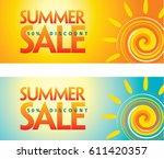 summer sale banner design... | Shutterstock .eps vector #611420357