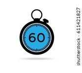 set of simple timers. vector...   Shutterstock .eps vector #611421827