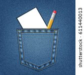 Jeans Pocket With Pencil And...