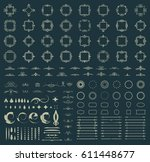 circle and square wicker... | Shutterstock .eps vector #611448677