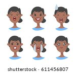 set of emotional character.... | Shutterstock .eps vector #611456807