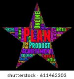 plan word cloud colorful text... | Shutterstock .eps vector #611462303