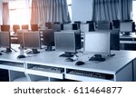 group of computers neatly... | Shutterstock . vector #611464877