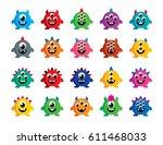 cute monster vector | Shutterstock .eps vector #611468033