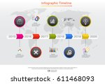 infographics design vector and... | Shutterstock .eps vector #611468093