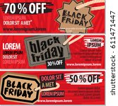 black friday sale vector... | Shutterstock .eps vector #611471447