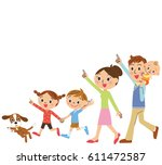 close family walks | Shutterstock .eps vector #611472587