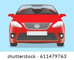convertible car front view | Shutterstock .eps vector #611479763
