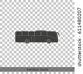 coach bus icon. | Shutterstock .eps vector #611480207