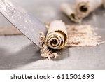detail of chocolate biscuit... | Shutterstock . vector #611501693
