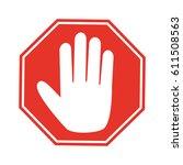 hand blocking sign stop .vector ... | Shutterstock .eps vector #611508563