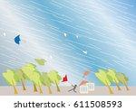 background image of typhoons  ... | Shutterstock .eps vector #611508593